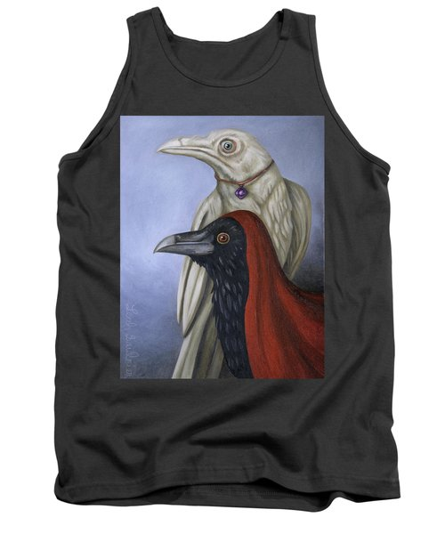 Tank Top featuring the painting Amethyst by Leah Saulnier The Painting Maniac