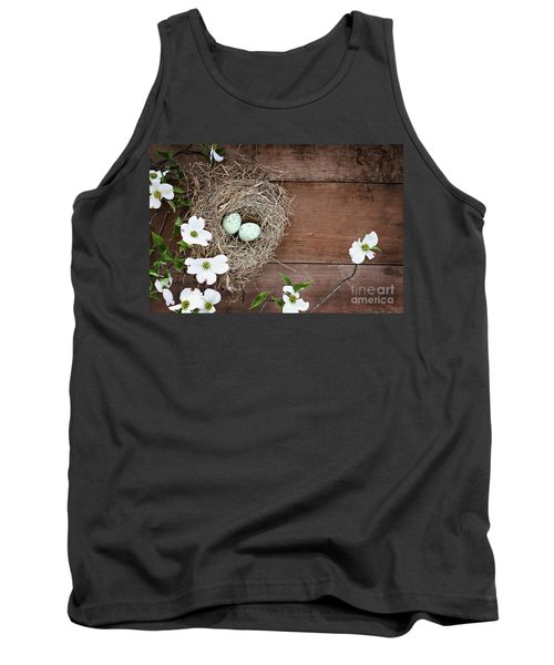 Amid The Dogwood Blossoms Tank Top