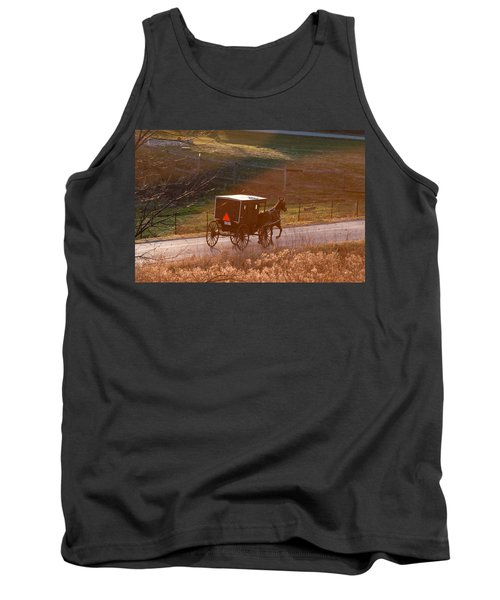 Amish Buggy Afternoon Sun Tank Top