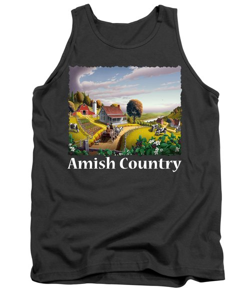 Amish Country T Shirt - Appalachian Blackberry Patch Country Farm Landscape Tank Top