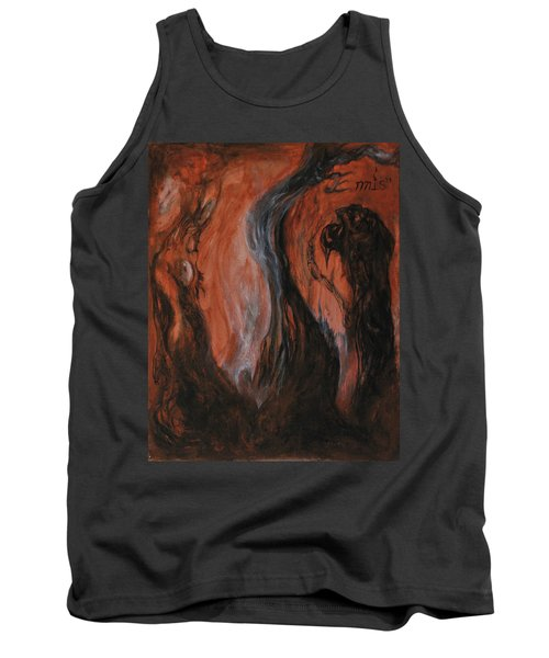 Tank Top featuring the painting Amongst The Shades by Christophe Ennis