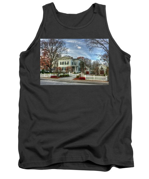 Amos Tuck House In Late Autumn Tank Top