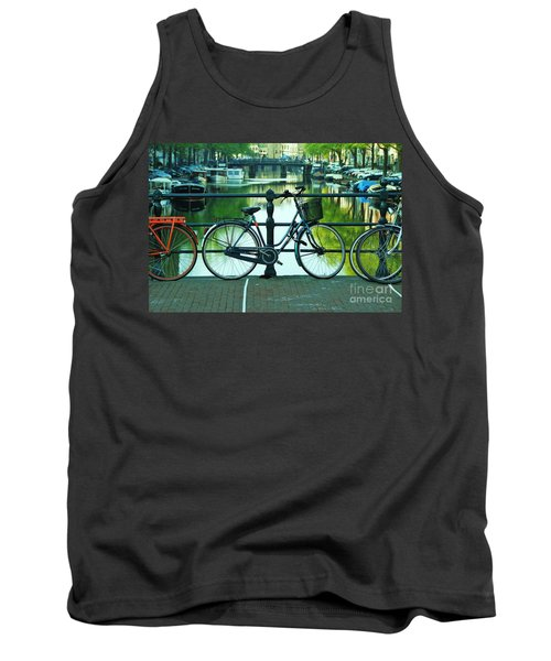 Tank Top featuring the photograph Amsterdam Scene by Allen Beatty