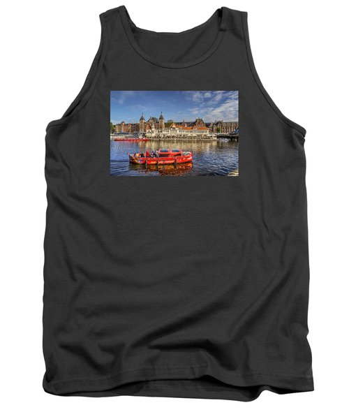 Amsterdam Waterfront Tank Top by Uri Baruch