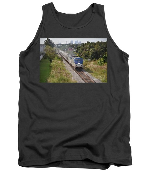 Tank Top featuring the photograph Amtrak Silver Star by John Black