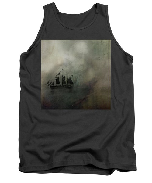 Tank Top featuring the digital art Amundsen And Fram by Andy Walsh