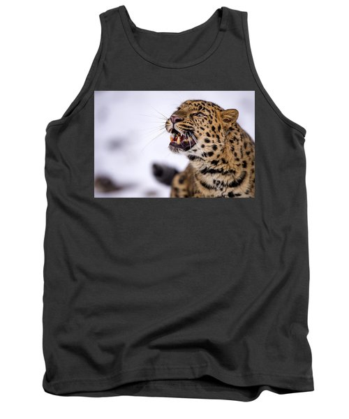 Amur Leopard With A Bloody Smile Tank Top