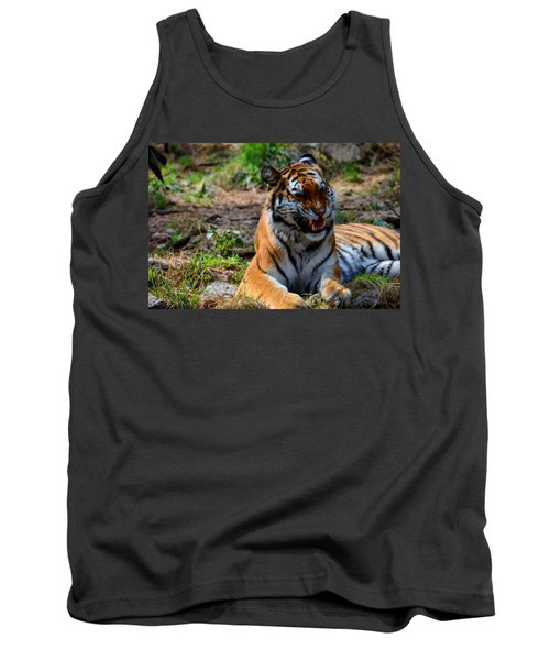 Tank Top featuring the mixed media Amur Tiger 3 by Angelina Vick