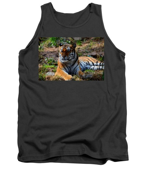 Tank Top featuring the mixed media Amur Tiger 8 by Angelina Vick