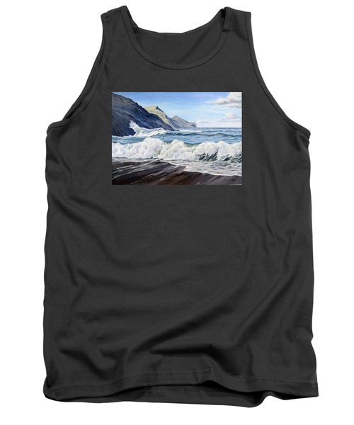 Tank Top featuring the painting An April Morning At Crackington Haven by Lawrence Dyer
