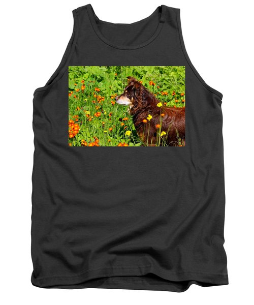 An Aussie's Thoughtful Moment Tank Top by Debbie Oppermann