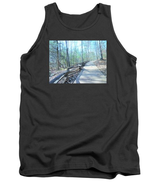 Tank Top featuring the photograph An Autumn Walk In The Woods by Kay Gilley