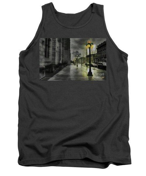 Tank Top featuring the mixed media An Evening In Paris by Jim  Hatch