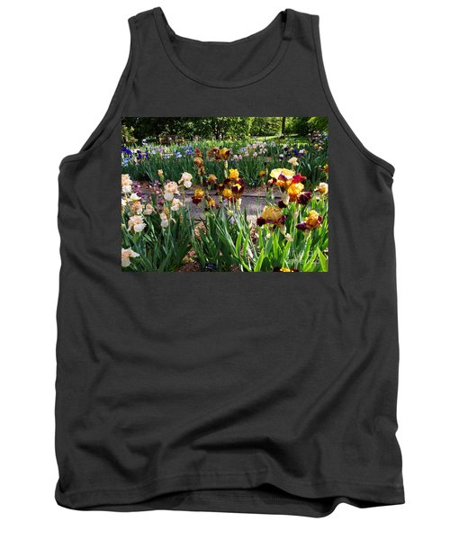 Tank Top featuring the photograph An Iris Party by Nancy Kane Chapman