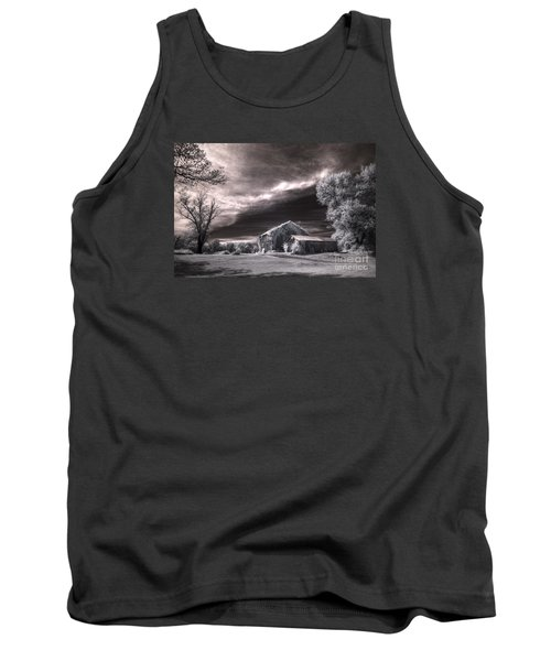 Tank Top featuring the digital art An Ivy Covered Rustic by William Fields