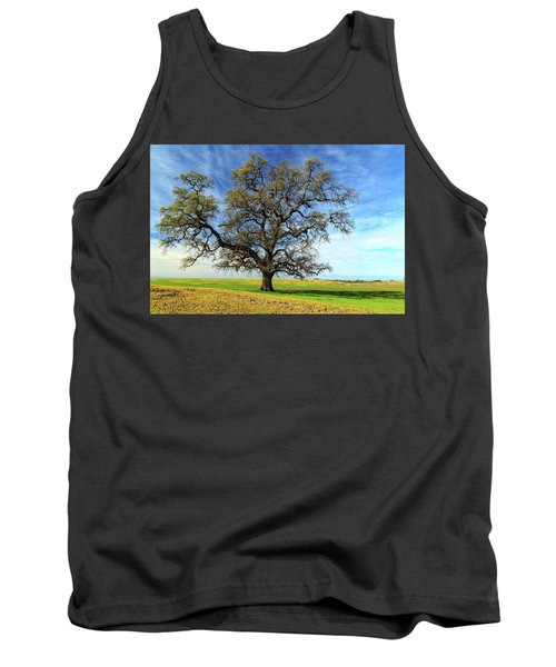 Tank Top featuring the photograph An Oak In Spring by James Eddy