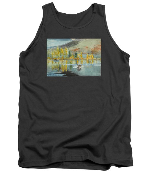 Tank Top featuring the painting An October Day by Winslow Homer