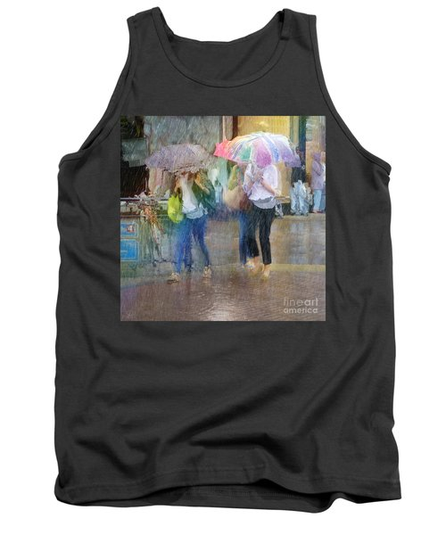 Tank Top featuring the photograph An Odd Sharp Shower by LemonArt Photography