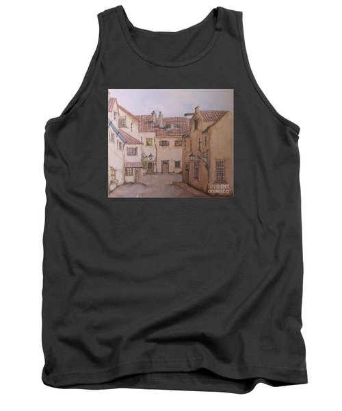 Tank Top featuring the painting An Ode To Charles Dickens  by Annemeet Hasidi- van der Leij