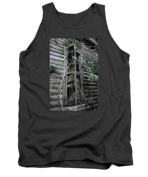 An Old Shuttered Window Tank Top by Lynn Jordan