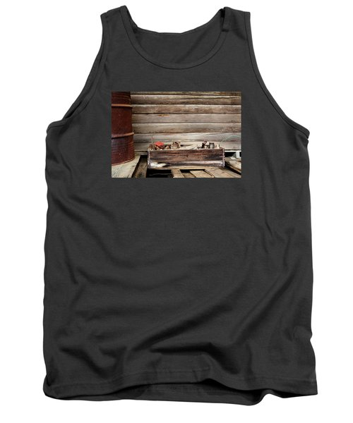 An Old Wooden Toolbox Tank Top