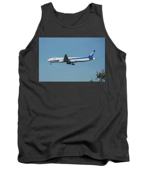 A N A Airplane J A 738 A  Boeing 777-381 Landing L A X Los Angeles International Airport Art Tank Top