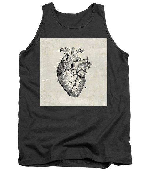 Anatomical Heart Medical Art Tank Top