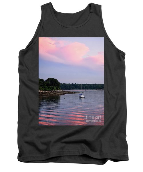 Anchored At Peaks Island, Maine  -07828 Tank Top