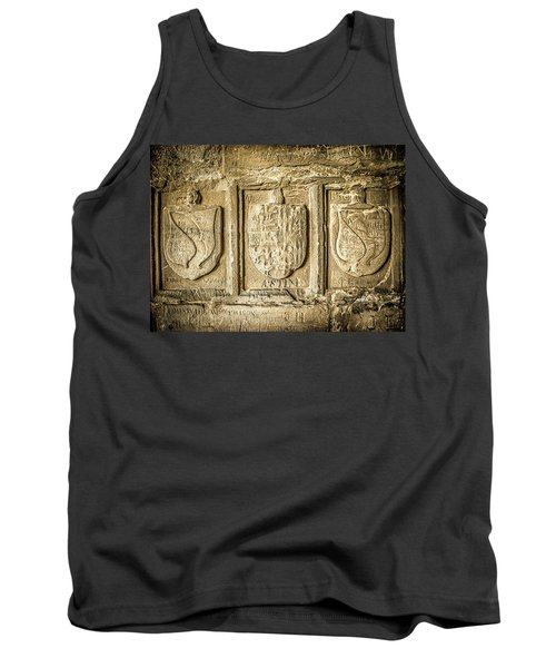 Tank Top featuring the photograph Ancient Carvings by Nick Bywater