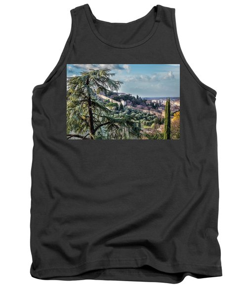 Tank Top featuring the photograph Ancient Walls Of Florence by Sonny Marcyan