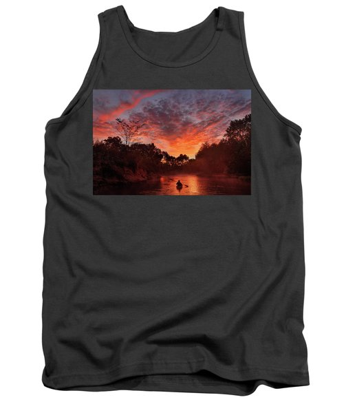 And The Day Begins Tank Top by Robert Charity