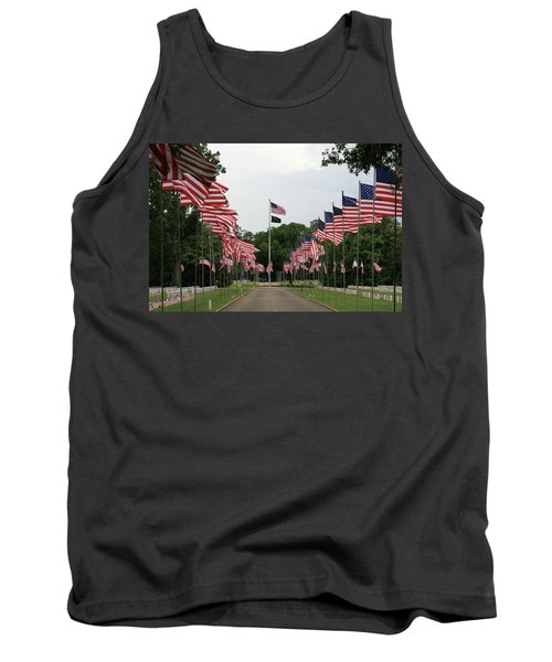 Tank Top featuring the photograph Andersonville National Cemetery by Jerry Battle