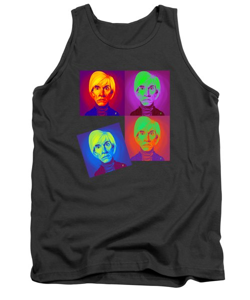 Andy Warhol On Andy Warhol Tank Top by Rob Snow
