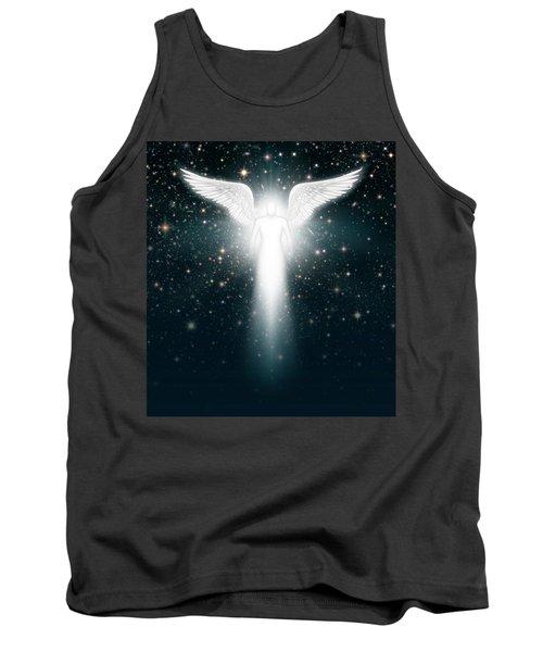 Angel In The Night Sky Tank Top by James Larkin
