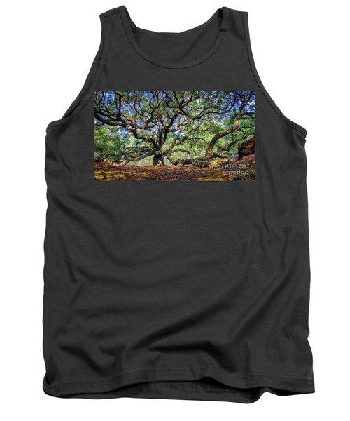 Angel Oak In Digital Oils Tank Top