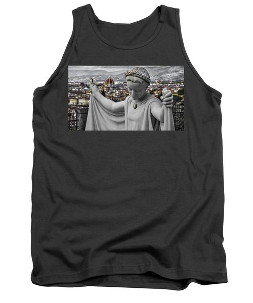 Tank Top featuring the photograph Angel Of Florence by Sonny Marcyan