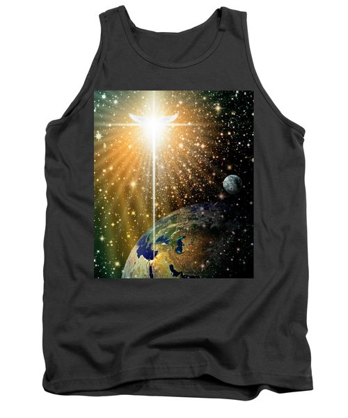 Angelic Star Over Bethlehem Tank Top by James Larkin