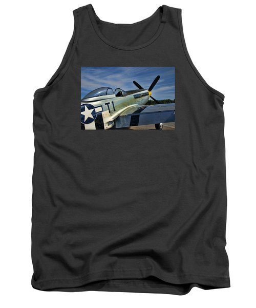 Tank Top featuring the photograph Angels Playmate P-51 by Steven Richardson