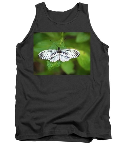 Angry Butterfly With A Mustache Tank Top