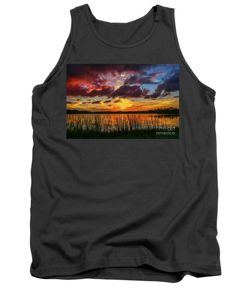 Angry Cloud Sunset Tank Top by Tom Claud
