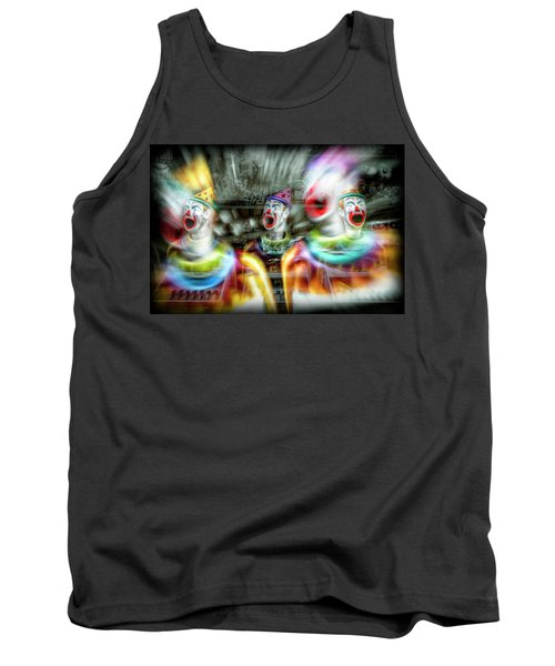 Tank Top featuring the photograph Angry Clowns by Wayne Sherriff