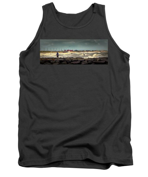 Angry Surf At Indian River Inlet Tank Top