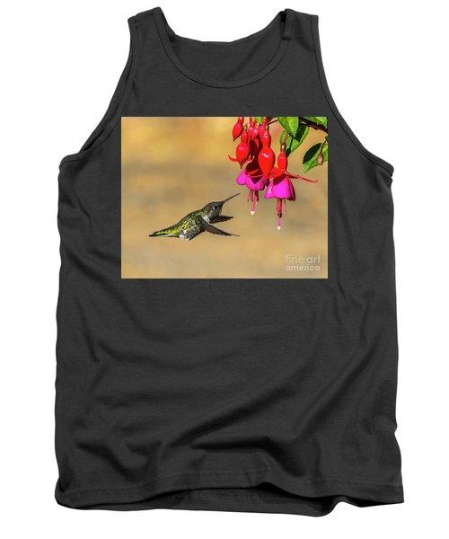Anna And Hardy Fuchsia Flower Tank Top