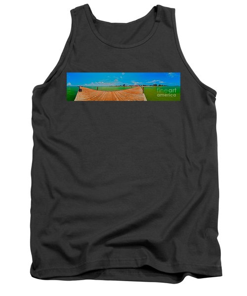 Anna Maria Island Seen From The Historic City Pier Panorama Tank Top