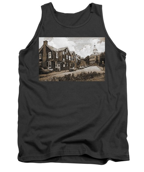 Historic Annapolis Maryland - Fine Art Tank Top