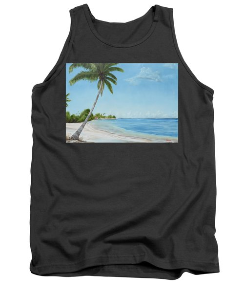 Another Day In Paradise Tank Top by Lloyd Dobson