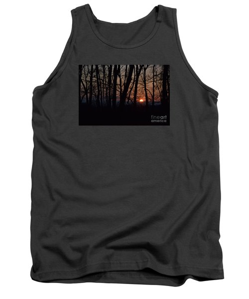 Tank Top featuring the photograph Another Sunrise In The Woods by Mark McReynolds