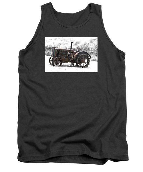 Antique Iron Horse Tank Top by Kathy M Krause