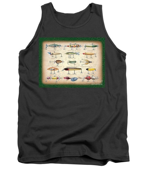 Antique Lures Panel Tank Top by JQ Licensing