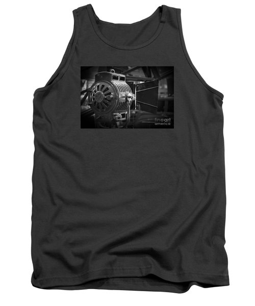 Antique Movie Lamp Tank Top by Roger Lighterness